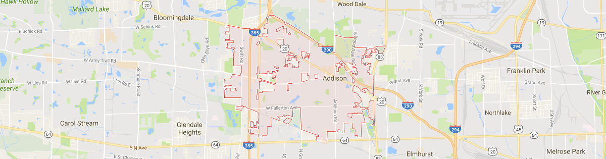 Addison Map